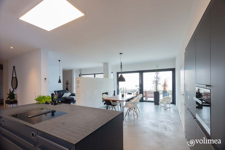 Fugenlose Wand-Bodenbeschichtung im Küchenbereich
