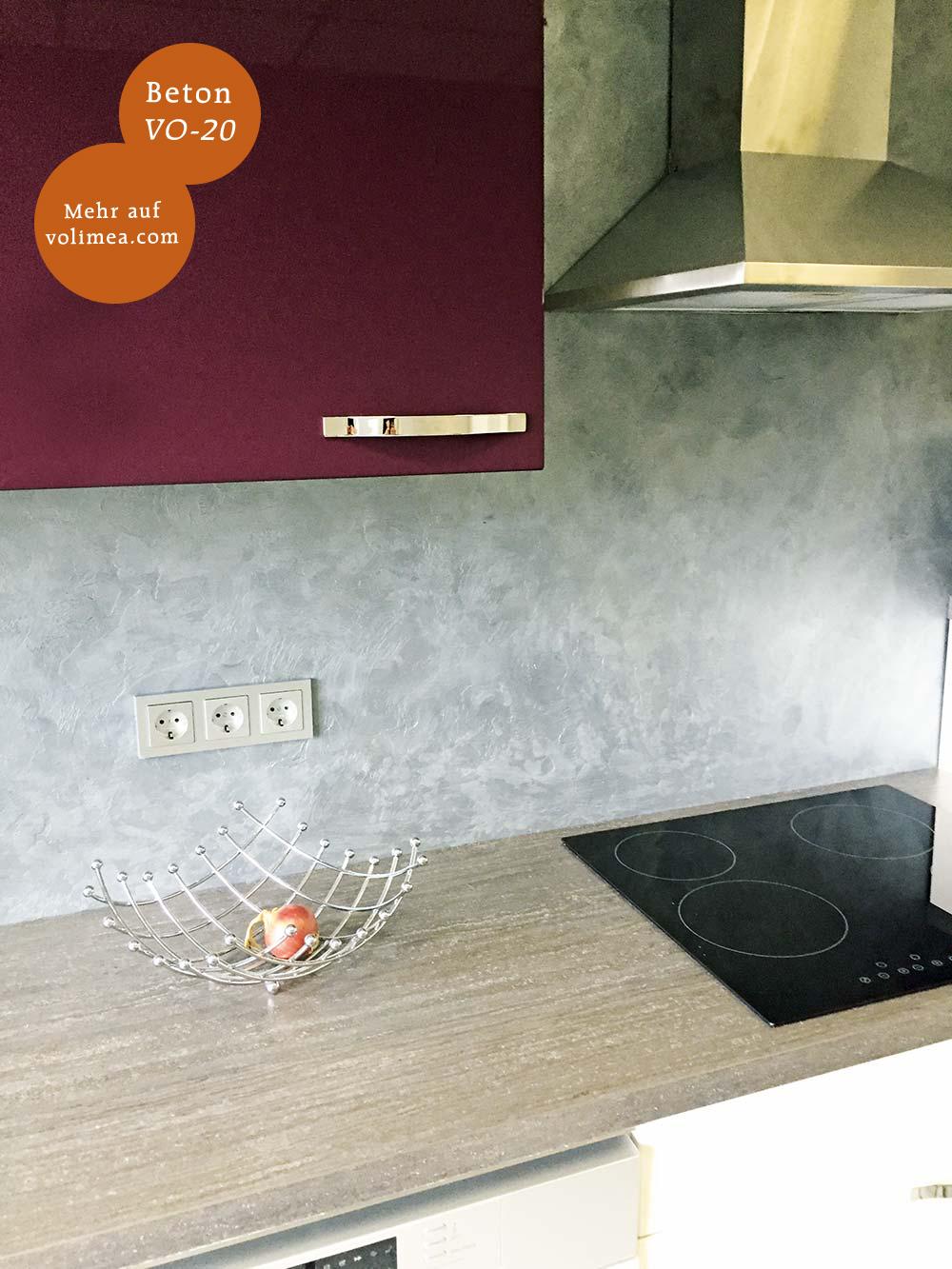 Volimea Wandbeschichtung im Küchenbereich Beton-VO-20