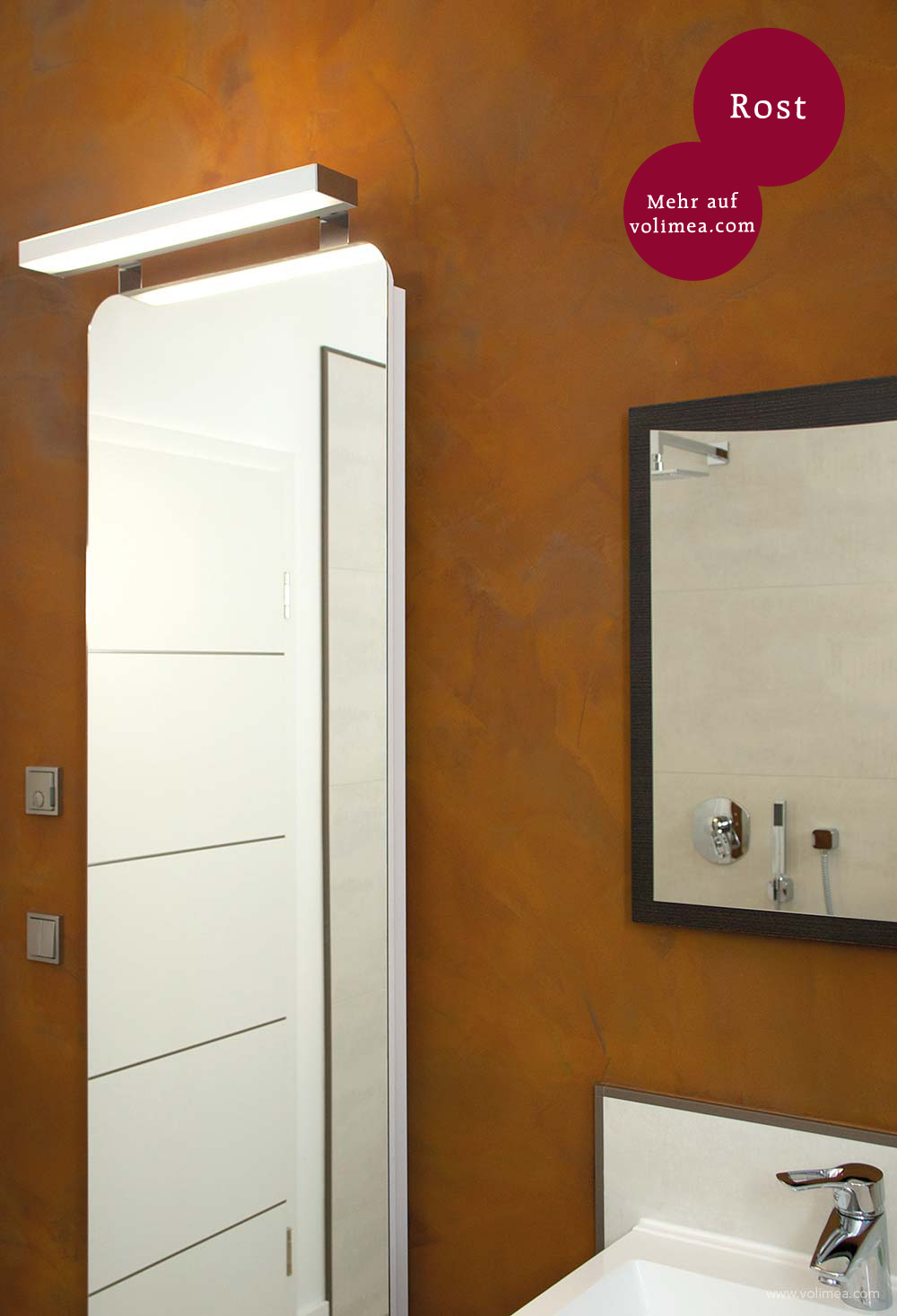 Grandezza Wandbeschichtung Waschtisch - Rost