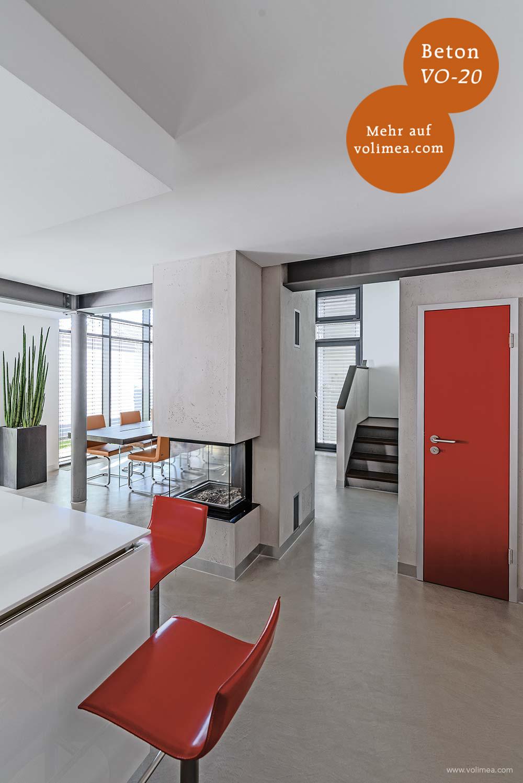 Volimea Wandbeschichtung im Wohnbereich Betonoptik Beton VO-20