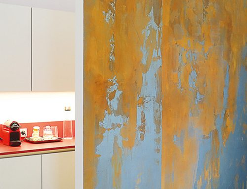 "Surface design ""Cortenstahl"" – modern, award-winning industrial look"
